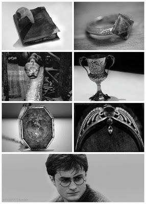 Lord Voldemort's Horcruxes      Tom Marvolo Riddle's Diary    Marvolo's Ring    Slytherin Locket    Hufflepuff Cup    Ravenclaw Diadem    Nagini Snake    Harry Potter