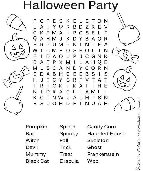 Halloween Party Wordsearch Jpg 494 591 Halloween Word Search Halloween Worksheets Halloween Party Printables