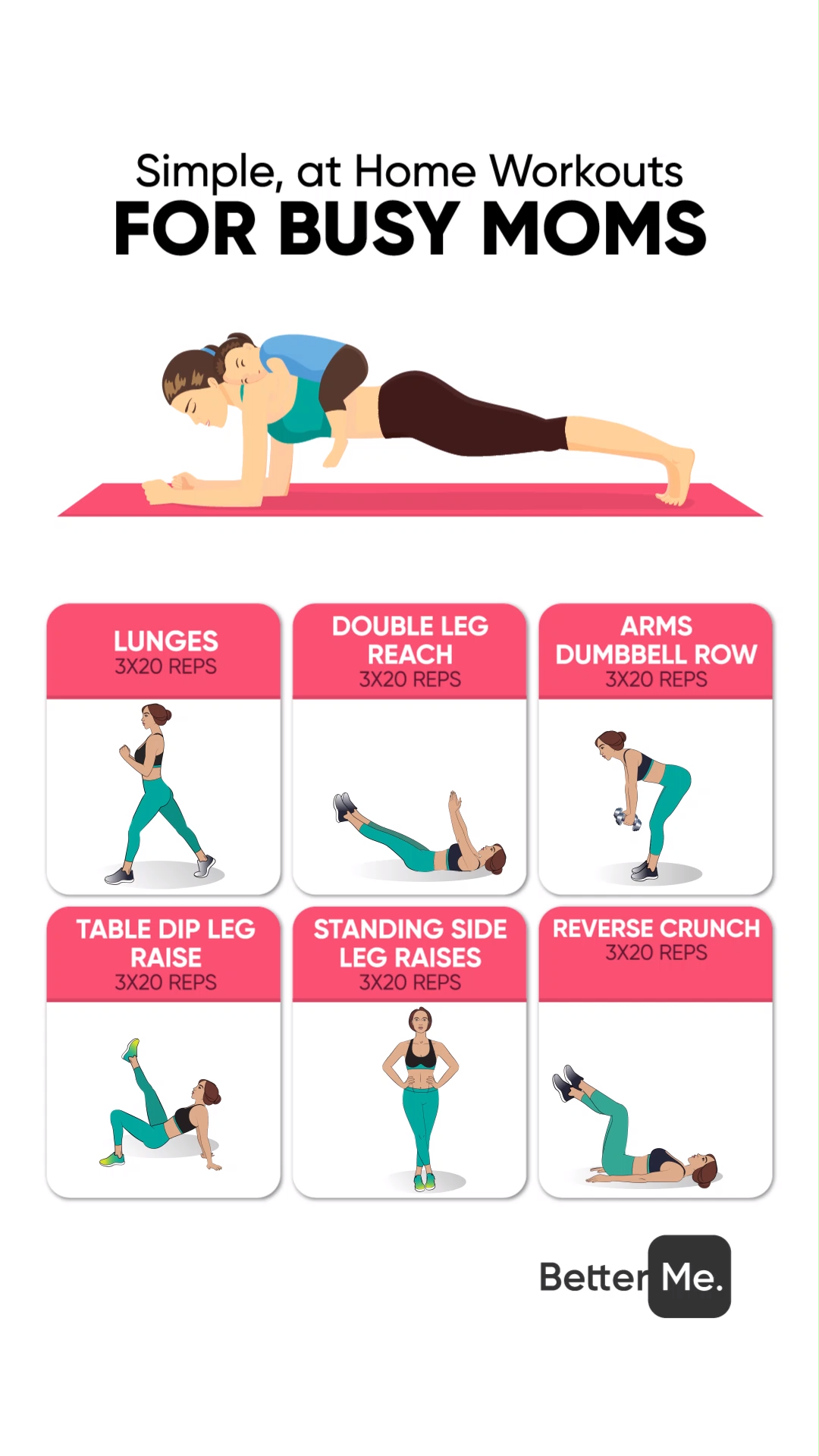 Home workout for busy moms