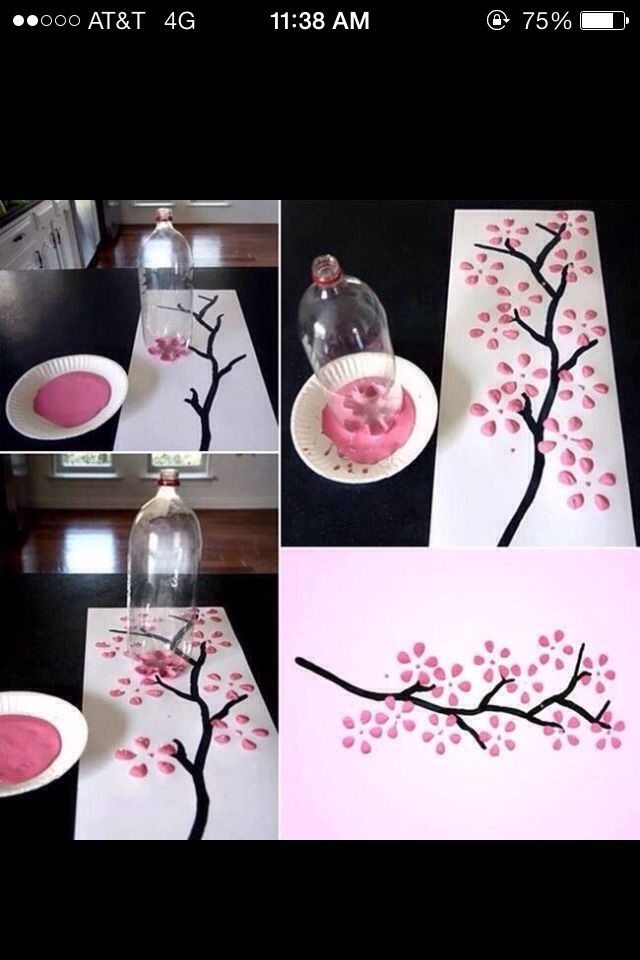 Fun Easy To Do Activity (Pop Bottle Painting)