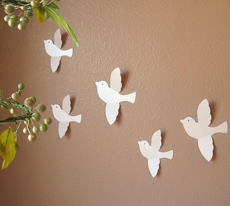 Wall Paper Decoration Design : Attractive handmade wall design for decoration ideas