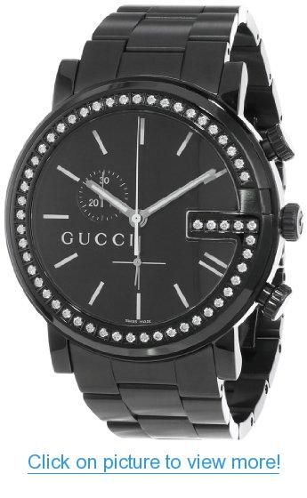9ee6450f3c3 Gucci Men s YA101340 G-Chrono Black PVD with Diamond Case Watch  Gucci  Mens   YA101340  G Chrono  Black  PVD  Diamond  Case  Watch