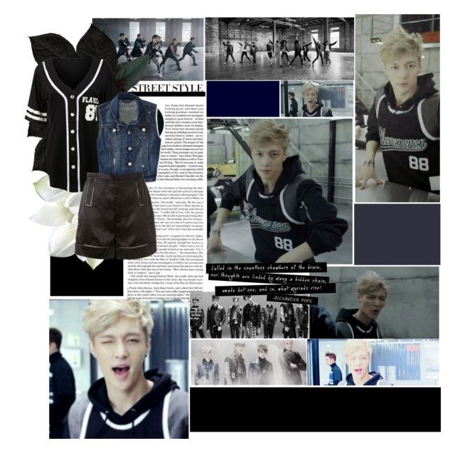 """EXO- Call Me Baby (Lay Ver.)"" by bangles77 ❤ liked on Polyvore featuring LE3NO, Aéropostale and Givenchy"