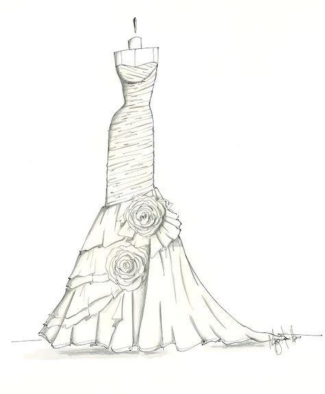 Pin von ilian auf fashion design in 2019 kleider - Kleider zeichnen ...