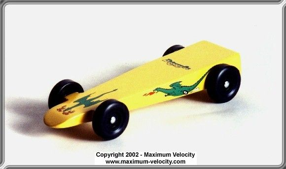 winning derby car shape | Standard Wedge GT Pinewood Derby Car ...