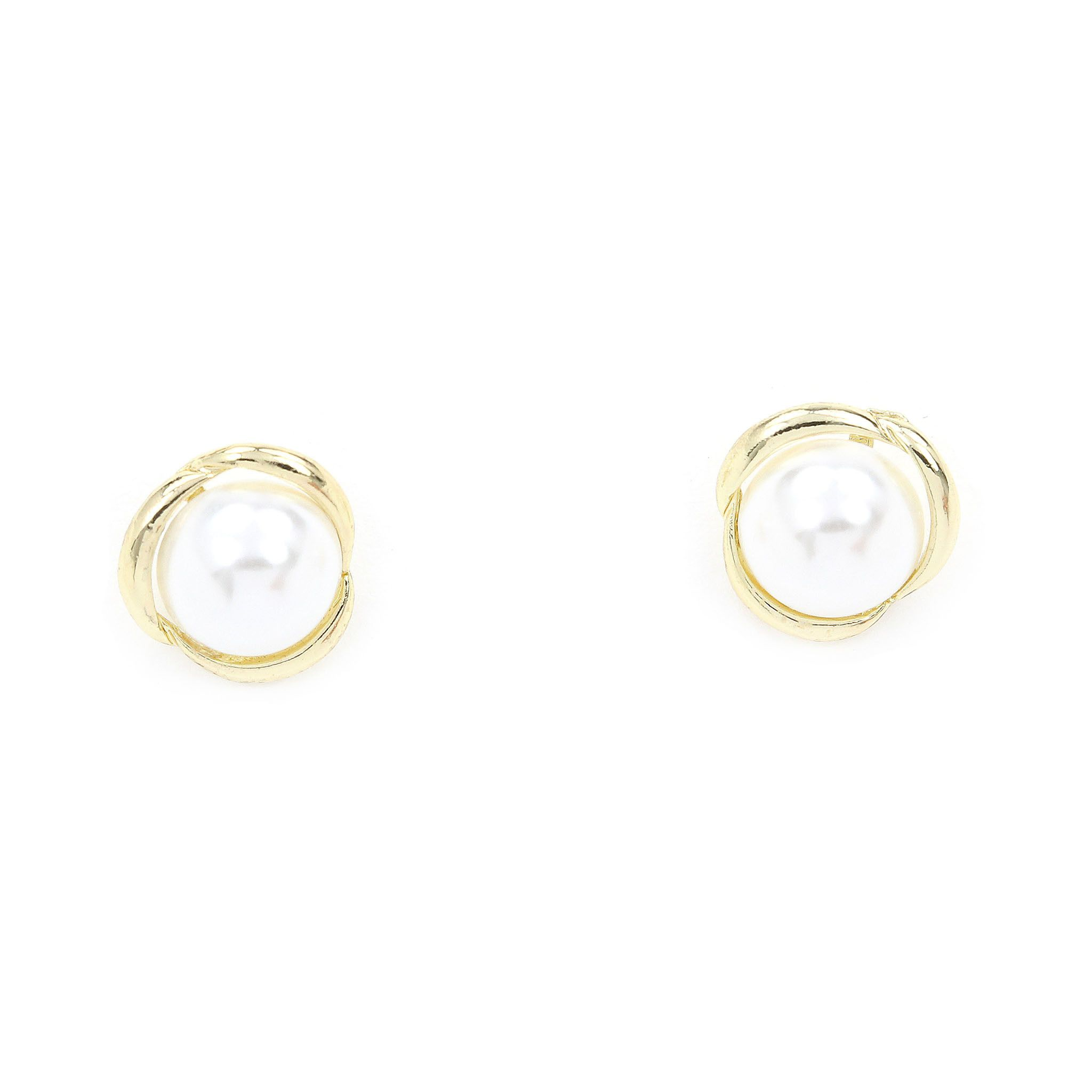 posts pearl rakuten yellow filled pearls shop on product pacificpearl gold white collection pacific stud bora earrings