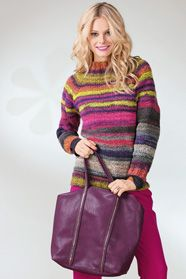 6e5e0c2cc33b dámský ručně pletený svetr z příze Spirali