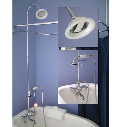 Gooseneck Clawfoot Tub Shower Conversion Kit D Style Shower Ring