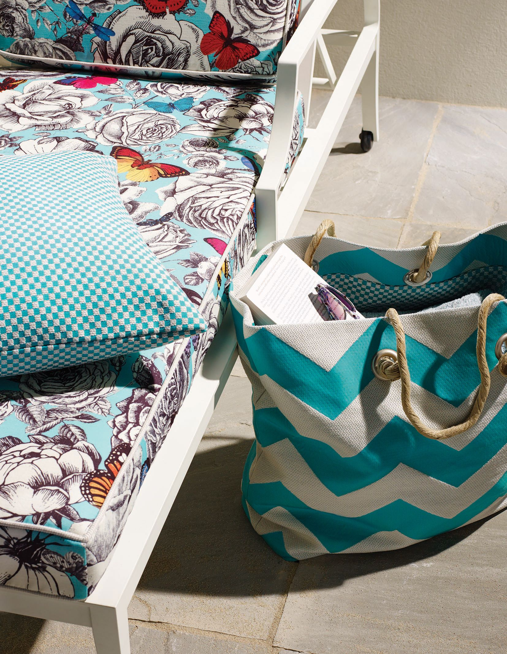 Outdoor Indoor Fabrics From The Sea Breeze Collection By