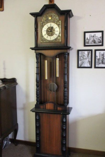 Grandfather Clock Purchased In The 1960s Made In Germany Franz Hermle Brass Movement Brass Weights Brass Pendul Antique Wall Clocks Grandfather Clock Clock