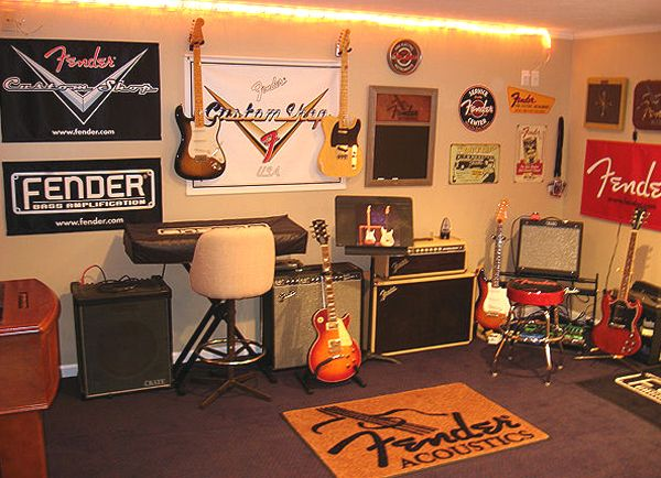 Man Cave Ideas Music : Fender for life music room ideas bedroom
