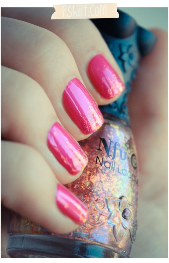 Pink with gold glitter