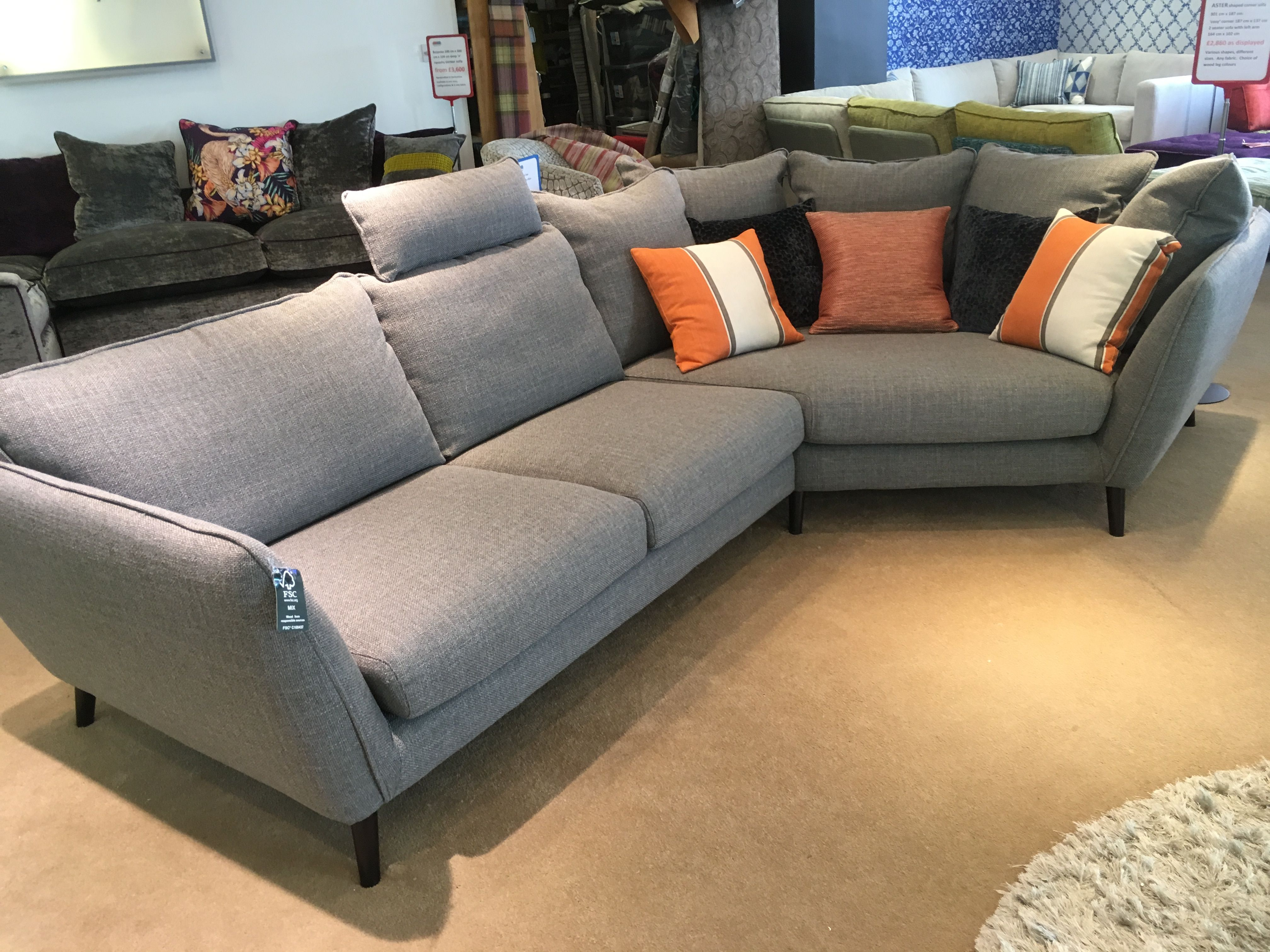 Cosy Corner Right And 2 Seat Sofa Left 301 Cm Wide X 187 Cm Longest Measurement Dark Wood Legs Optional Headrest And Scatter Cosy Corner Scandi Sofa Sofa