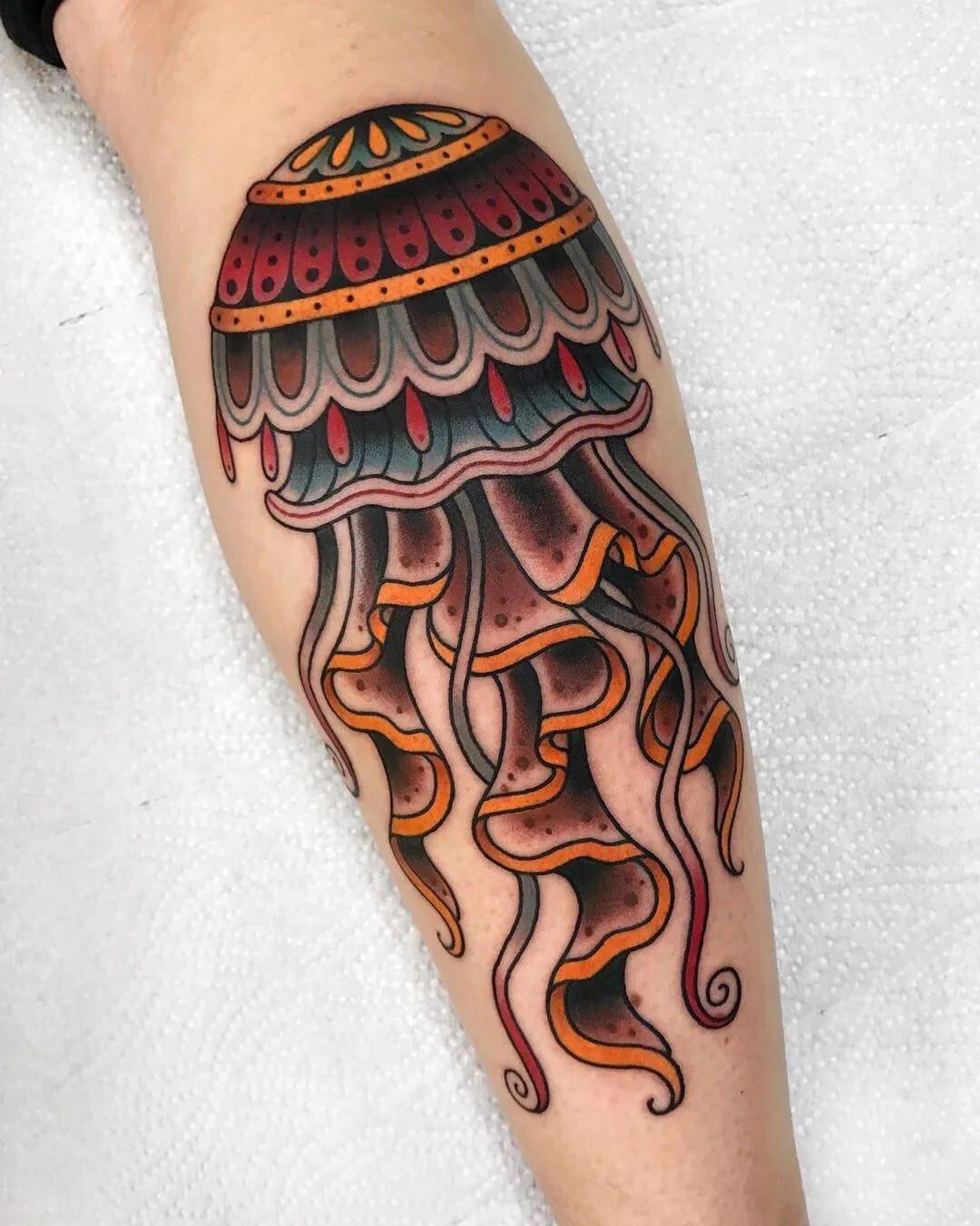 Tattoo Manuscript Material Issue 11 Jellyfish Tattoos Design In 2020 Jellyfish Tattoo Traditional Tattoo Jellyfish Tattoos