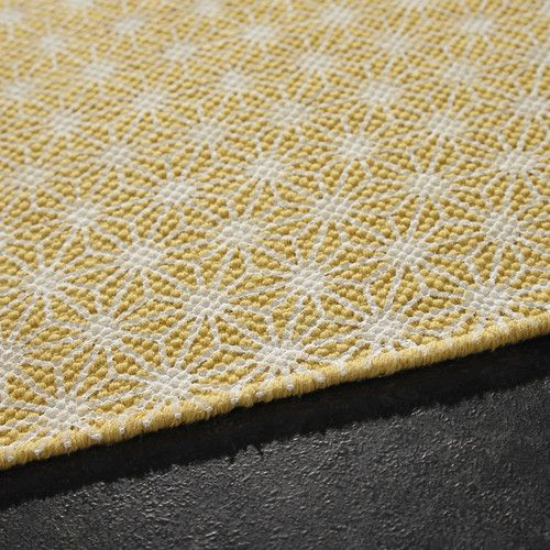 tapis en coton jaune moutarde 60 x 120 cm origami maisons du monde vivi pinterest wool. Black Bedroom Furniture Sets. Home Design Ideas