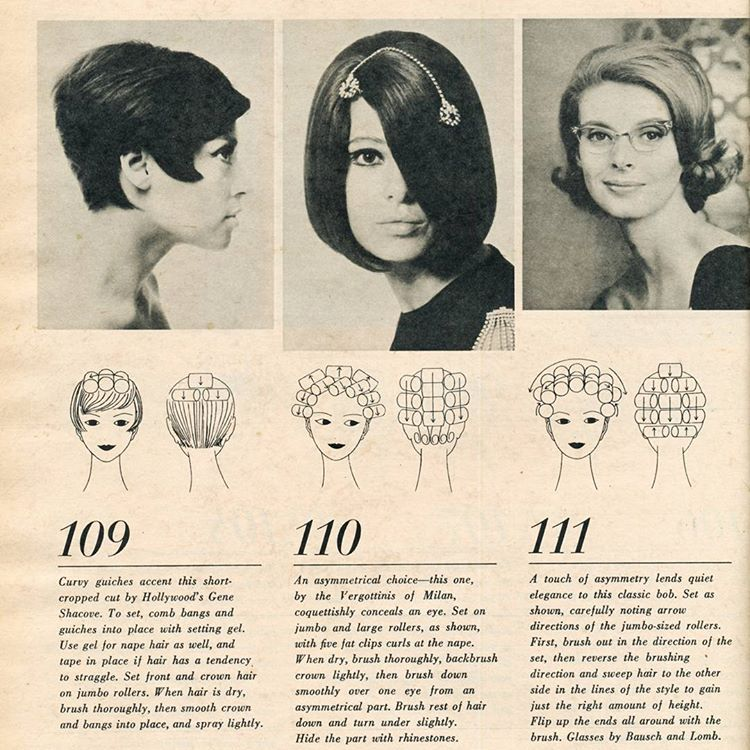 Vintage Hairstyle With Roller Setting Pattern HAIR ROLLER SETTING Simple Roller Set Patterns