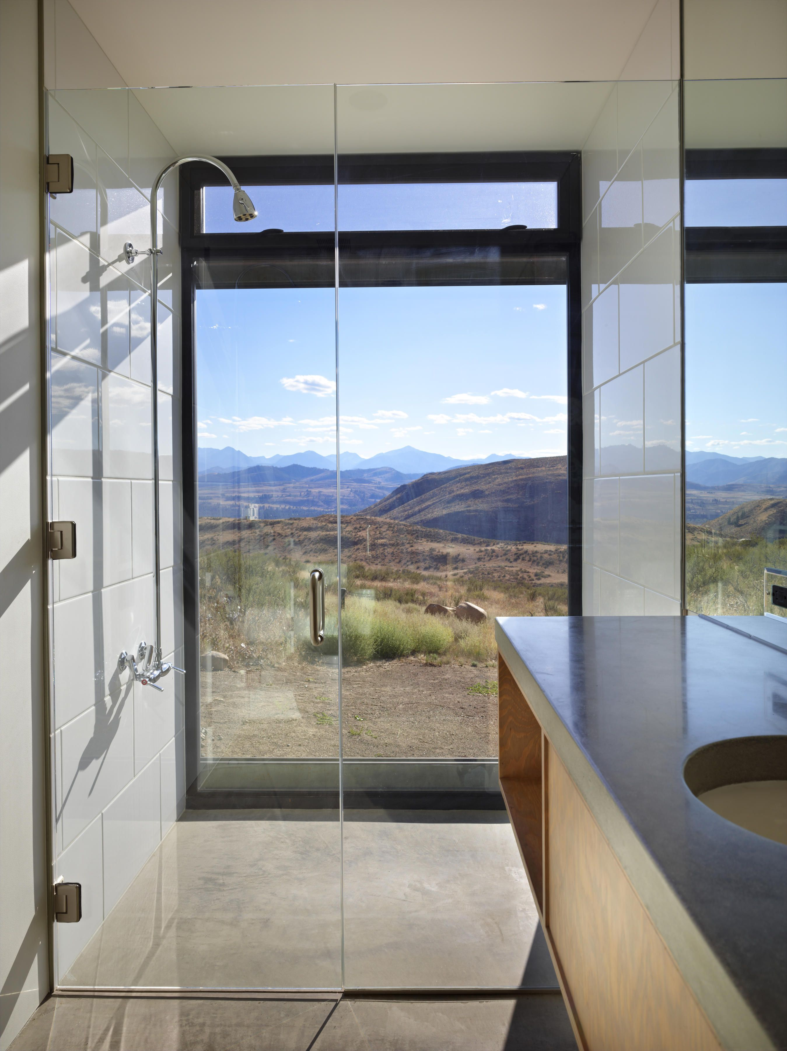 Studhorse by Olson Kundig | Showers, Flooring ideas and Undermount sink
