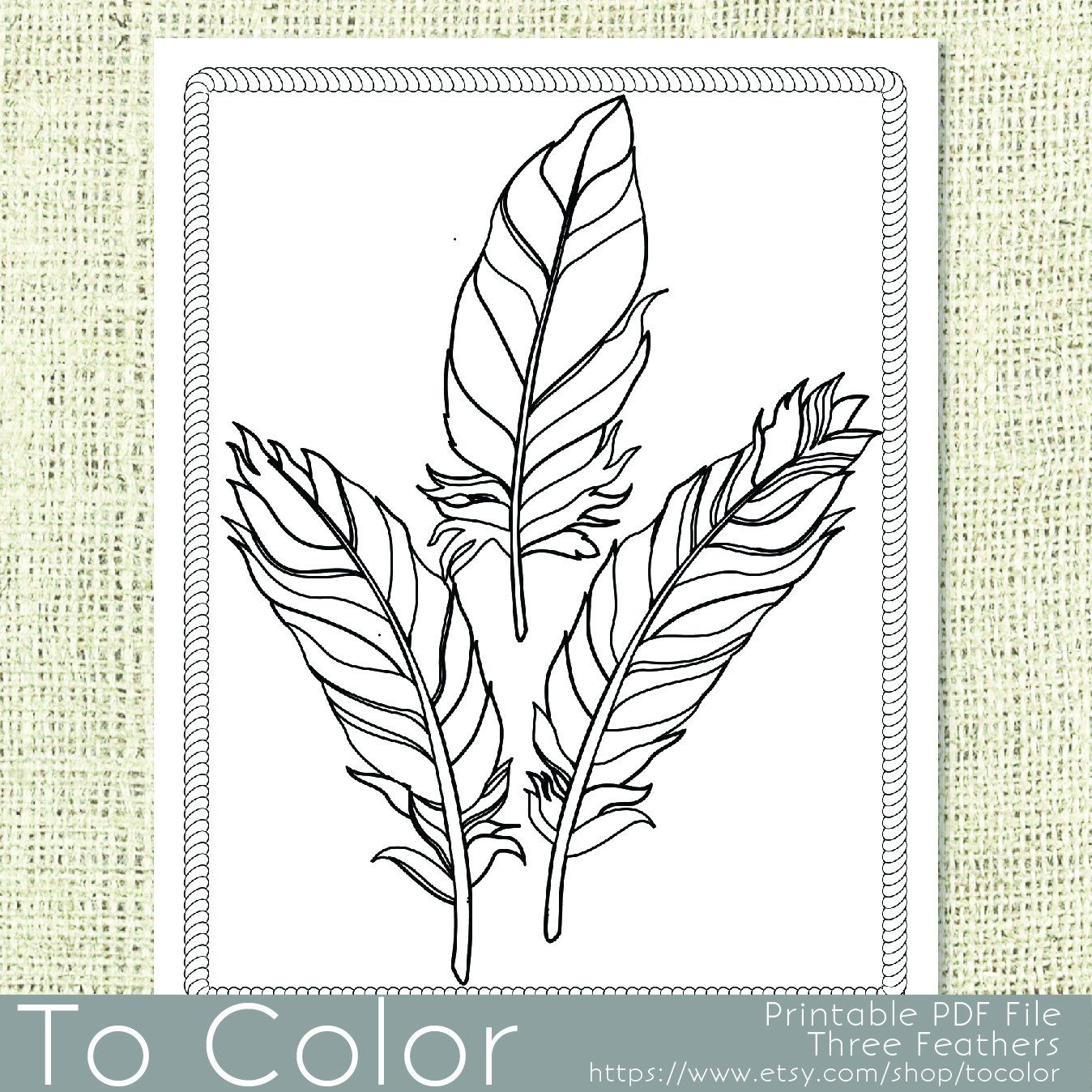 Sw swear word coloring pages etsy - Printable Feathers Coloring Page For Adults Pdf Jpg Instant Download Coloring Book Download Image Sw Swear Word