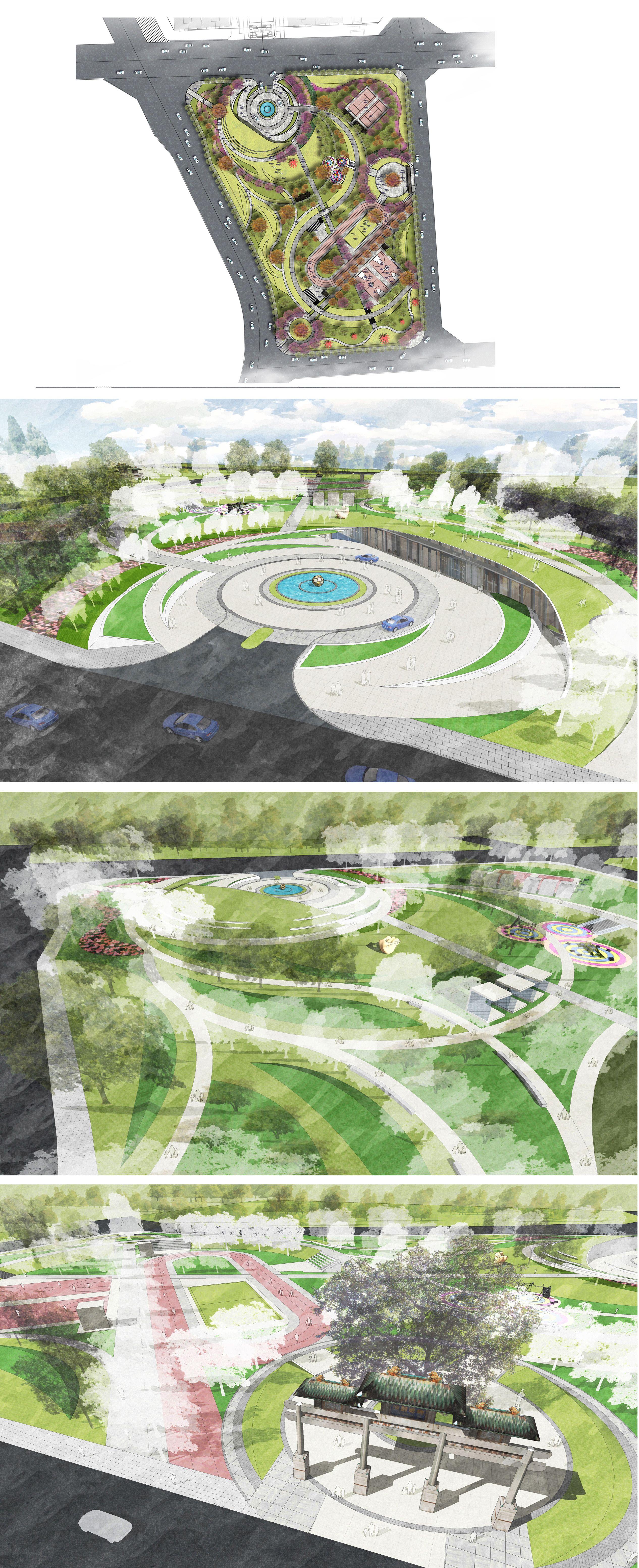 Bj Sports Park Design Landscape Parking Design Landscape Design Landscape Design Plans