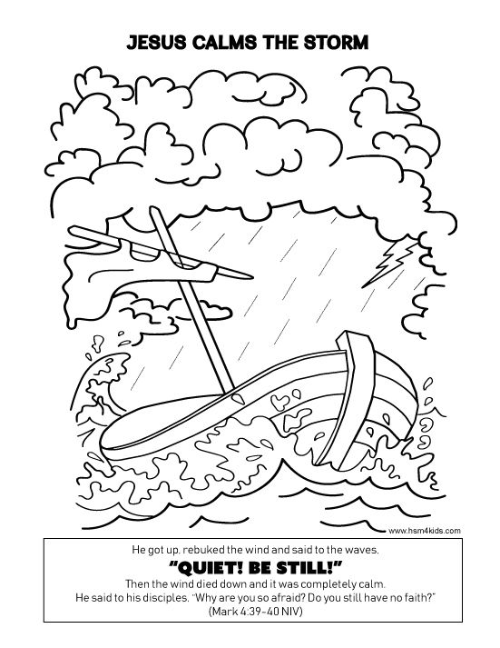 Jesus Calms The Storm Coloring Sheet Easy To Download And Print - Jesus-calm-the-storm-coloring-page