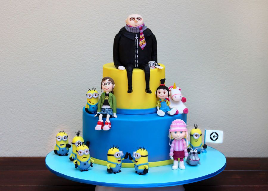 Excellent Despicable Me 2 Cakes And Cupcakes With Images Despicable Me Funny Birthday Cards Online Inifofree Goldxyz