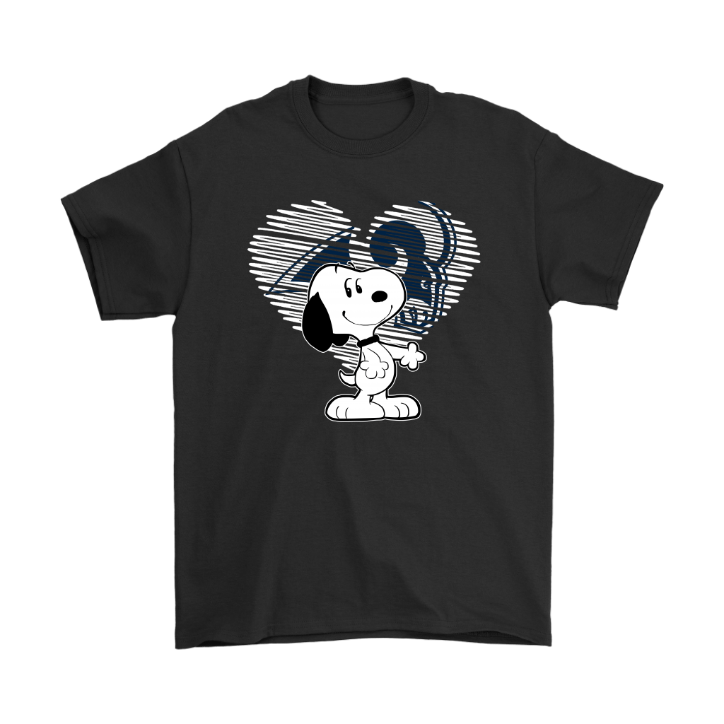 I Love Los Angeles Rams Snoopy In My Heart NFL Shirts
