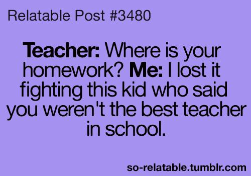 true teacher school <b>jokes</b> <b>joke</b> teen quotes relatable ...