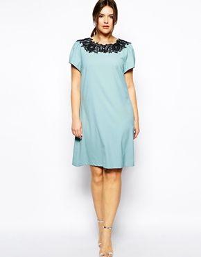 Image 4 ofPaper Dolls Plus Lace Neckline T-Shirt Dress