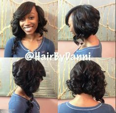 Incredible 1000 Images About Sew In On Pinterest Short Hairstyles For Black Women Fulllsitofus
