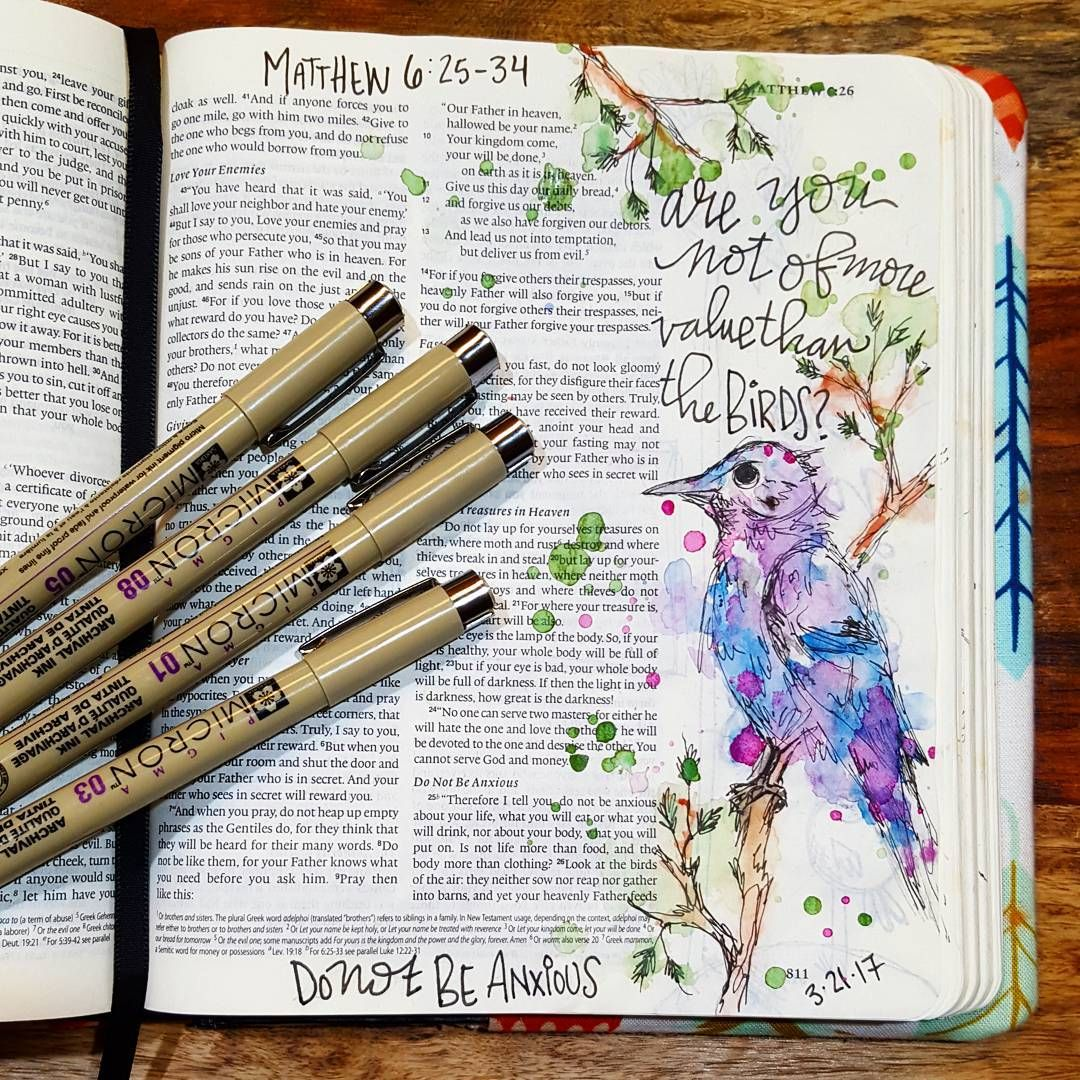 Matthew 6 25 34 Illustratedfaith Biblejournaling