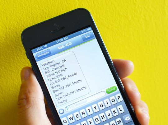 Did you know you can text message Google (466453) from your phone for  information