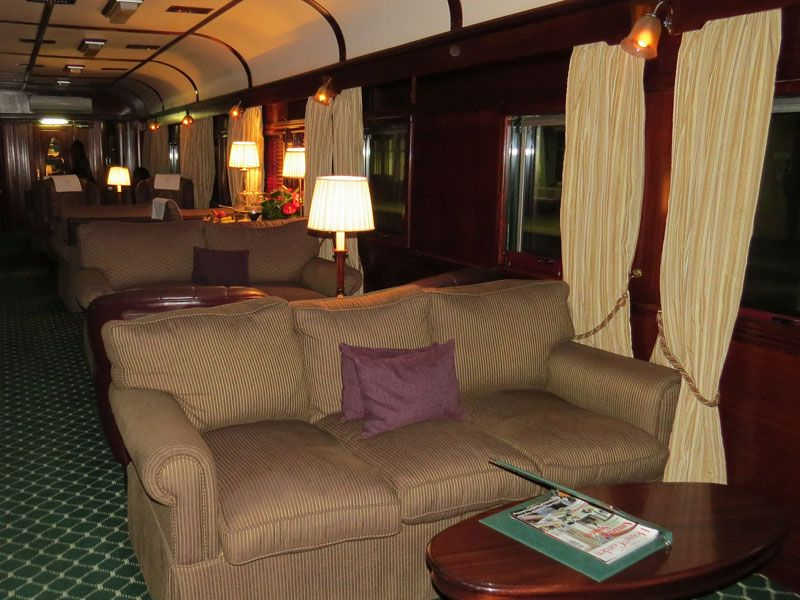 South Africa's Rovos Rail lounge