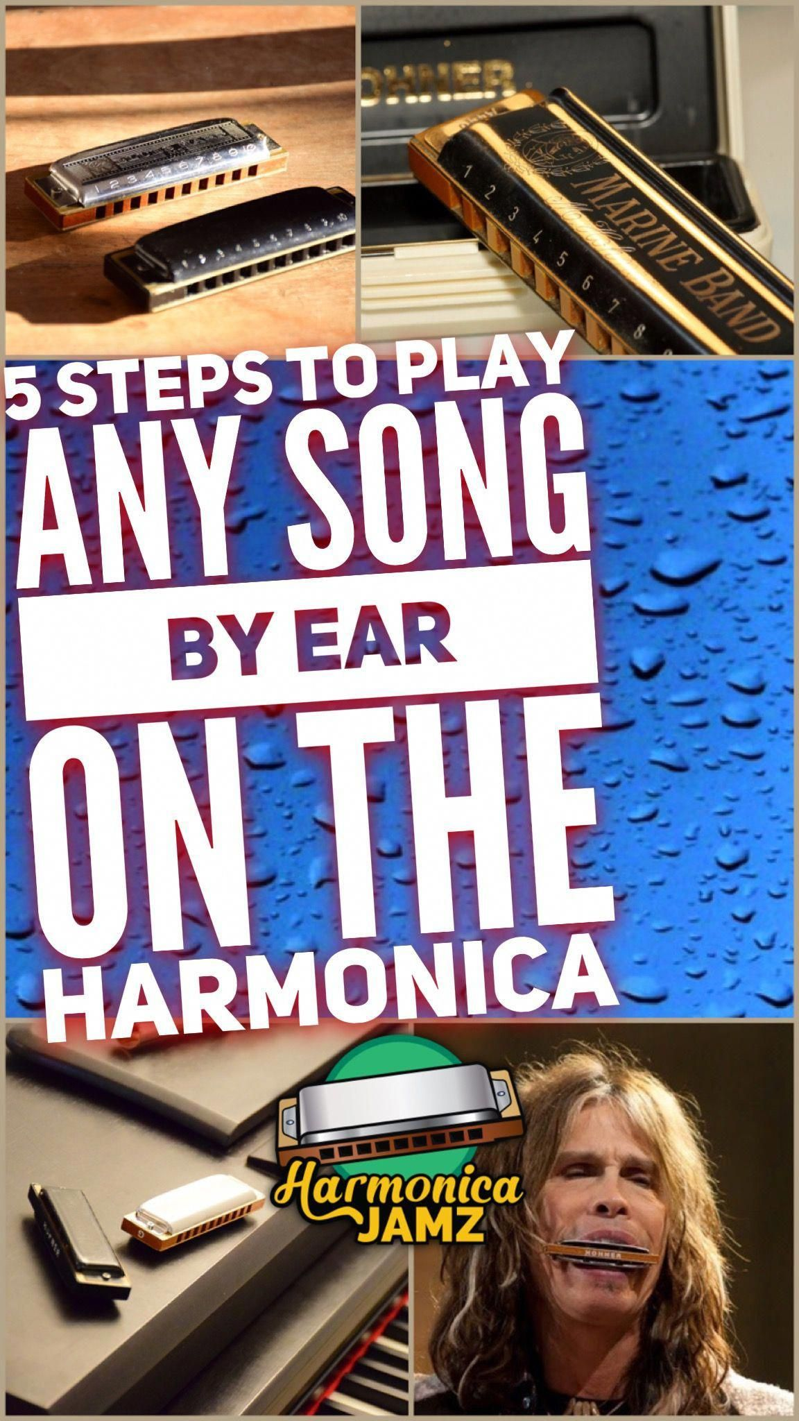 Play any song by ear on the harmonica, by Harmonica Jamz