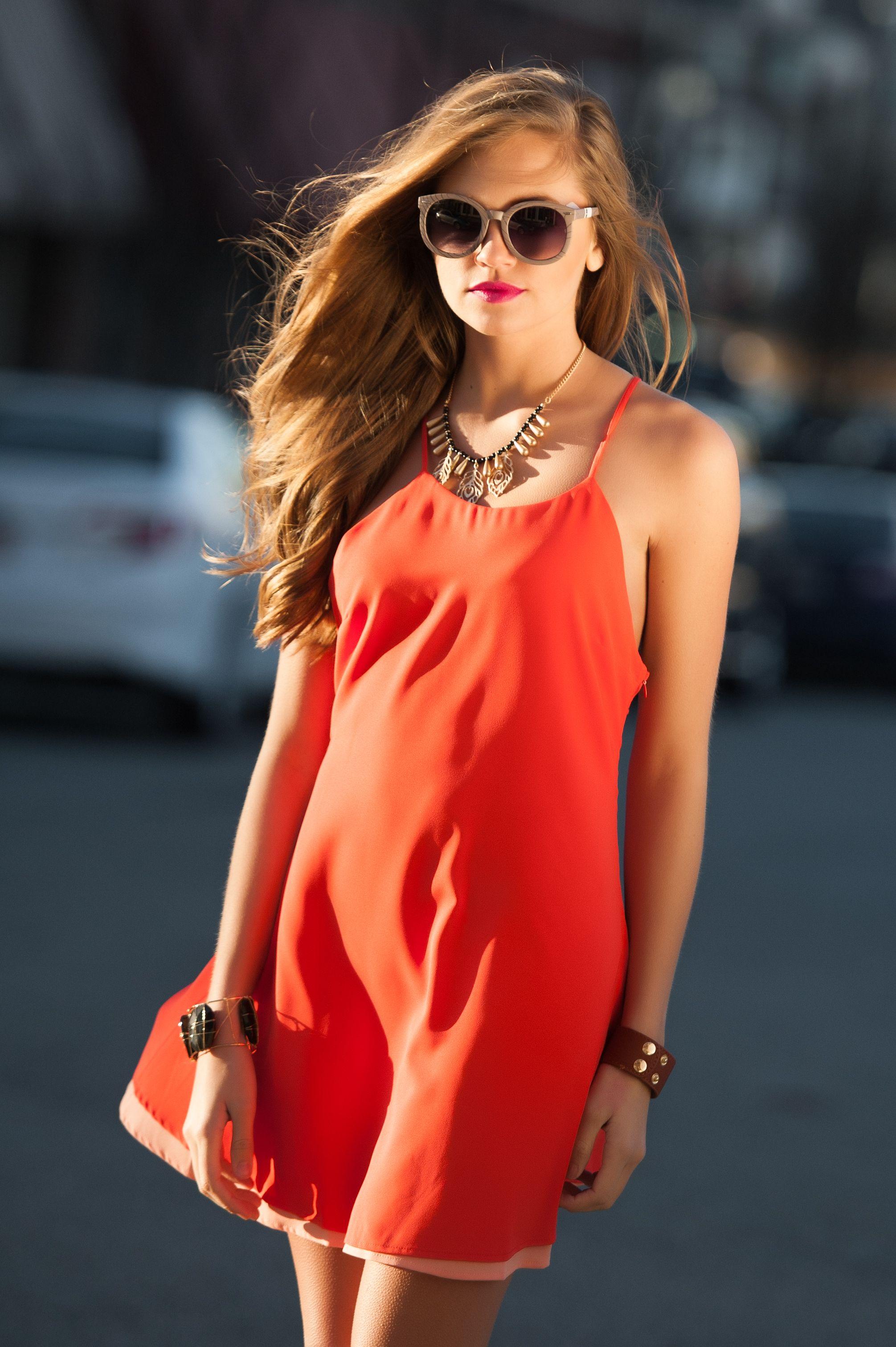 90s Slip Dress - Dahlia Red - Silk Laundry