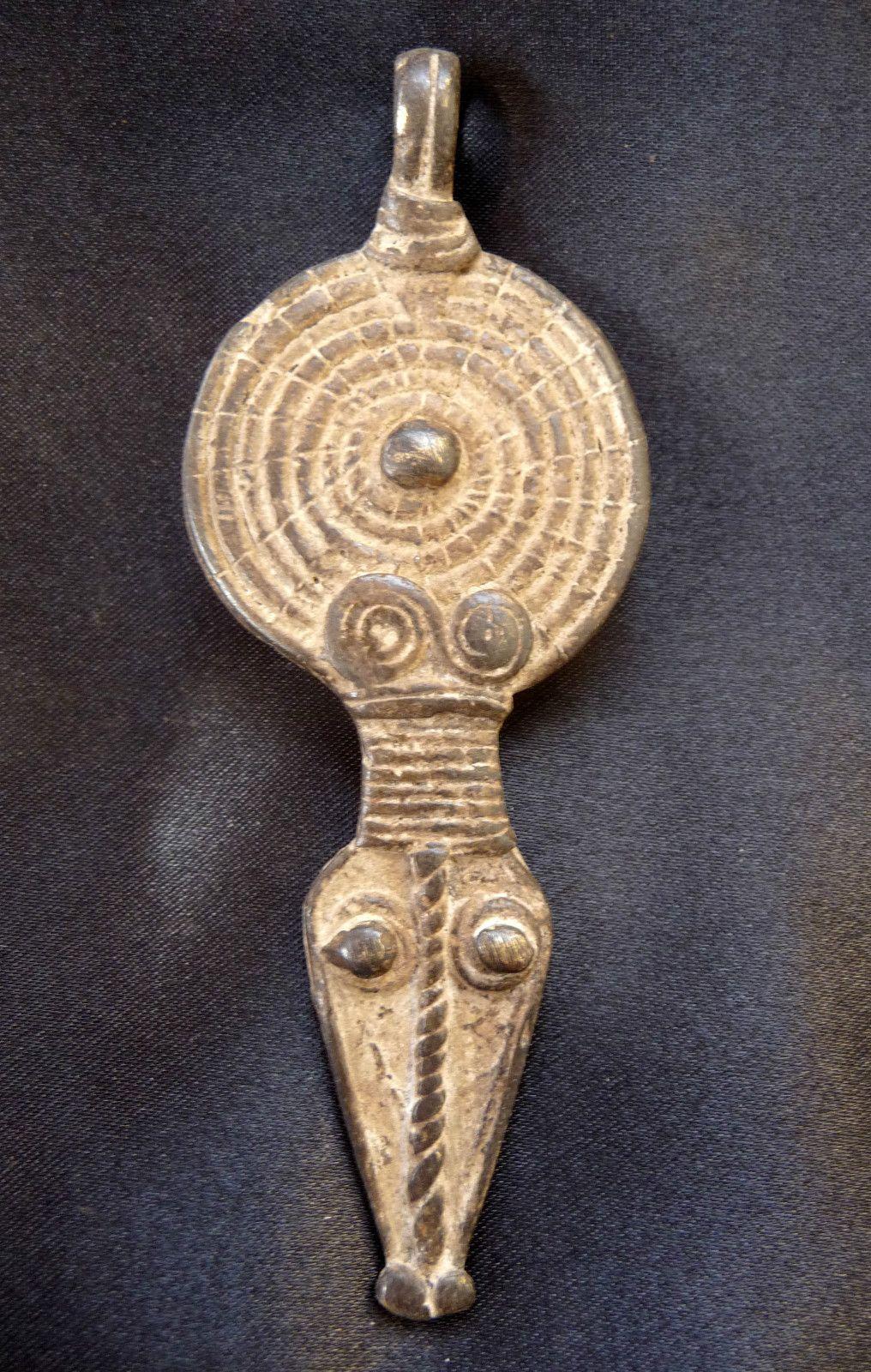 Africa Gan Bronze Amulet Snake And Solar Disk Burkina Faso  # Muebles Momposinos