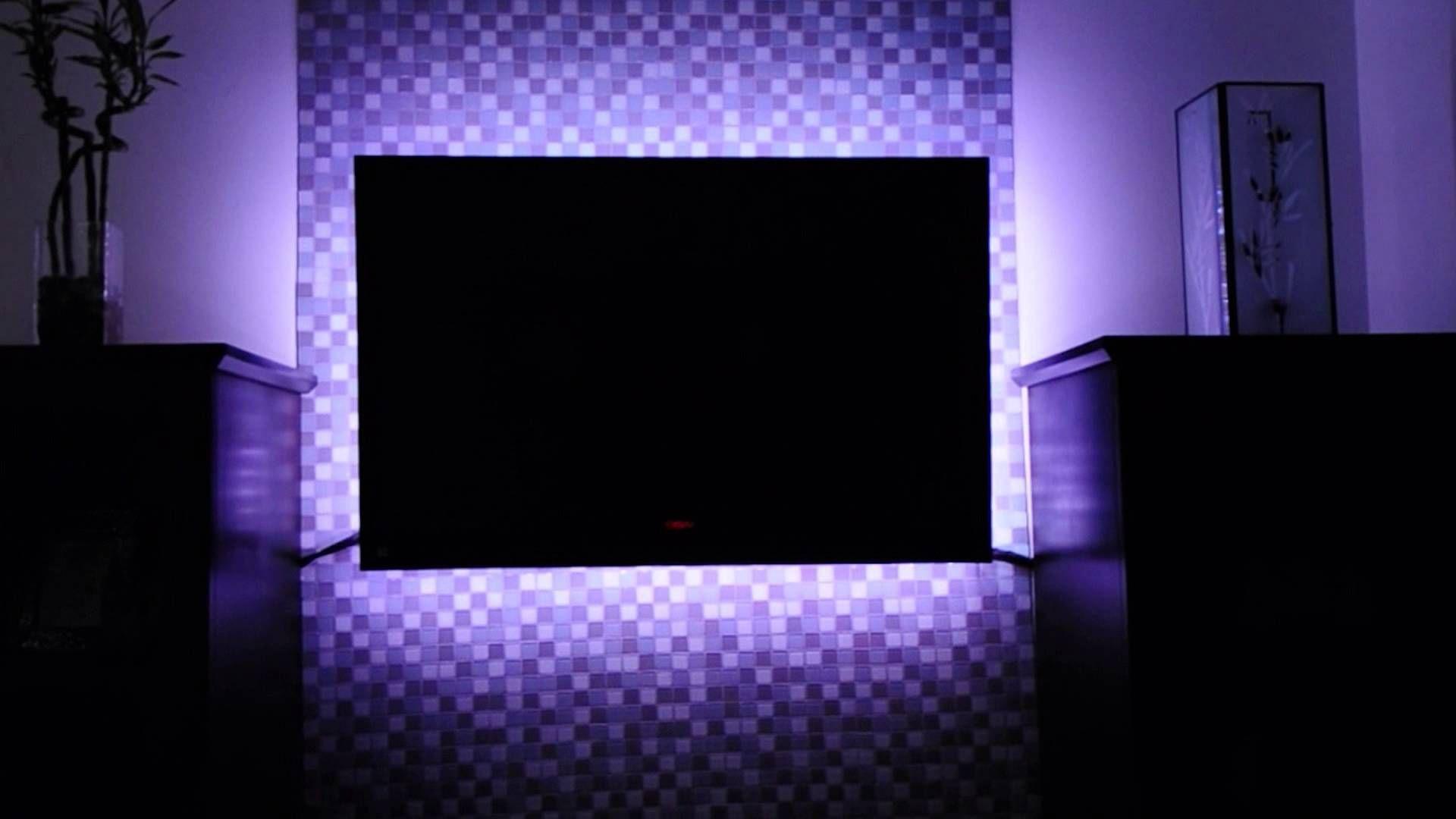 Cool Idea Led Lighting Behind A Tv To Reduce Eye Strain Lights Behind Tv Led Living Room Lights Tv Backlight