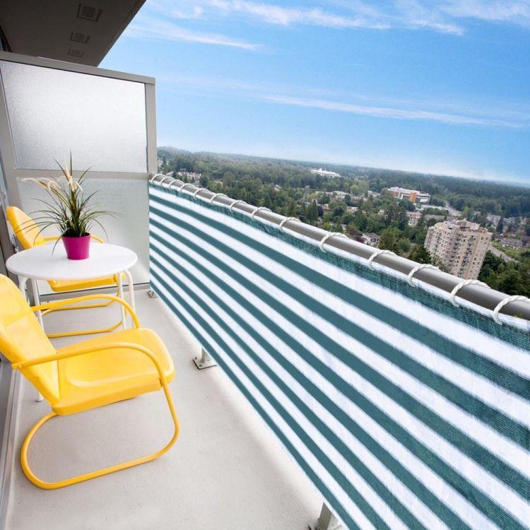 Sichtschutz mit Balkonbespannung 26 coole Ideen für