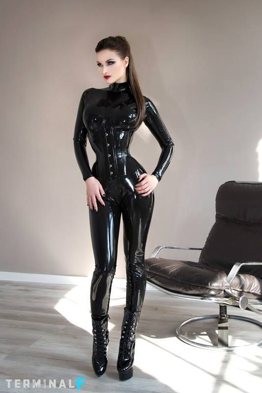 Sex girls vinyl latex moon shiny