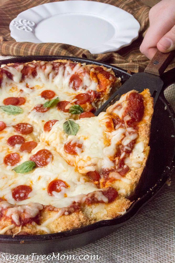 Low Carb Cauliflower Deep Dish Pizza Nut Free Recipe Deep