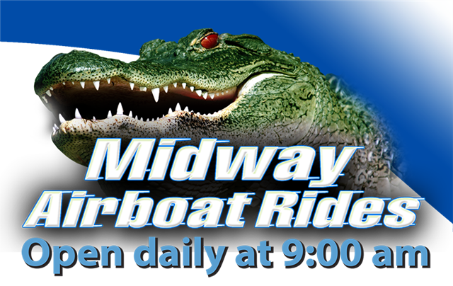 Airboat Rides at MIDWAY Mobile Site Airboat rides