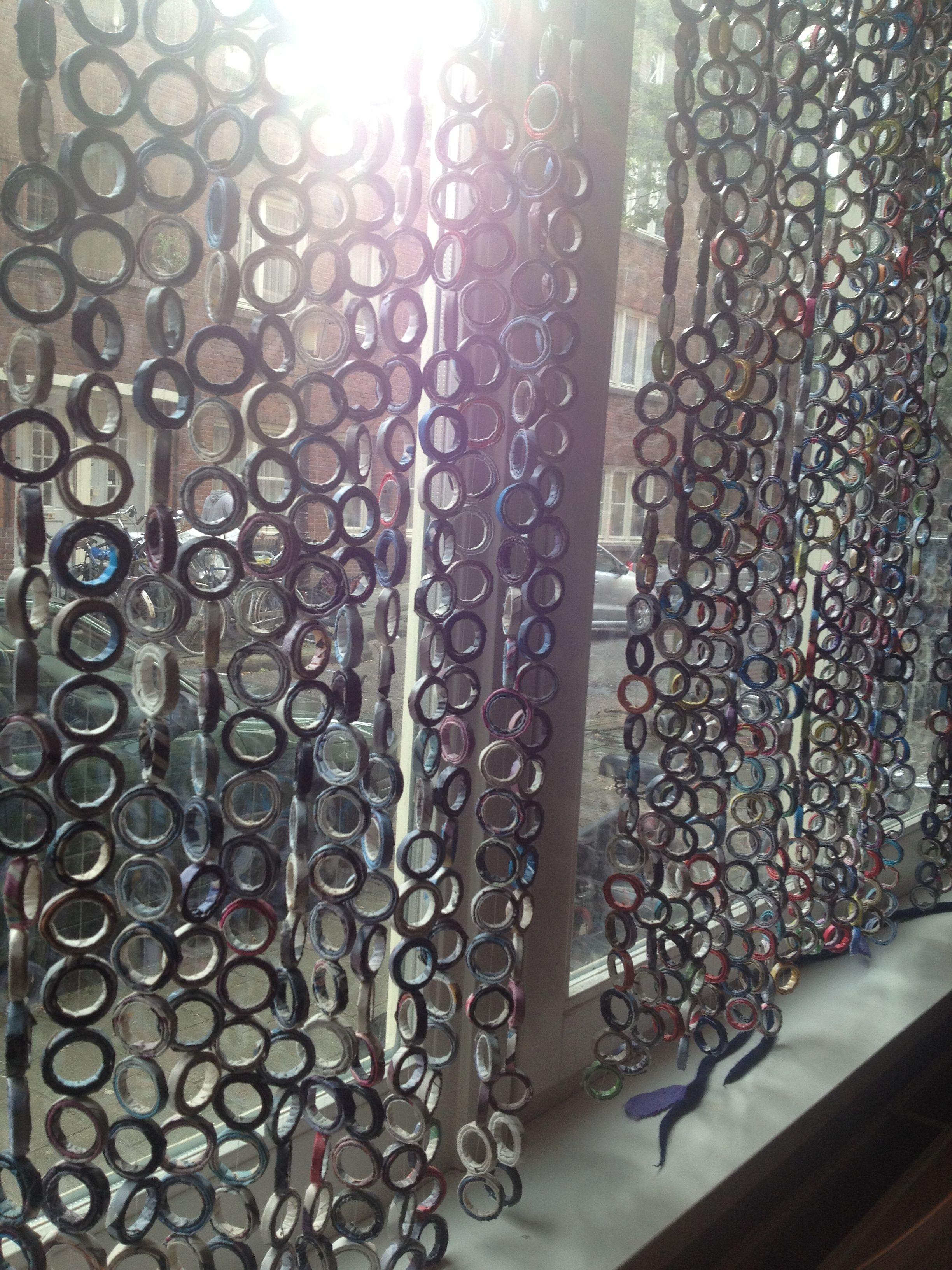 Cortina con papel reciclado | cortinas | Pinterest