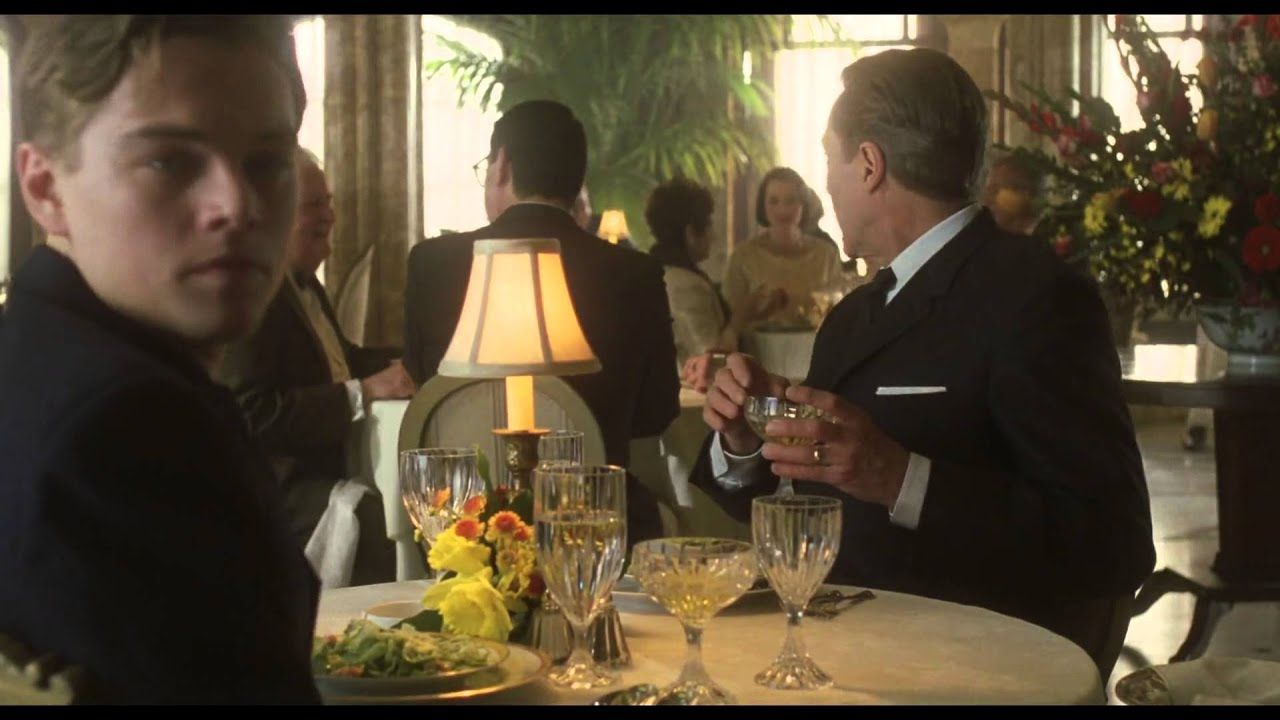 Catch Me If You Can Restaurant Scene By Dicaprio And Christopher
