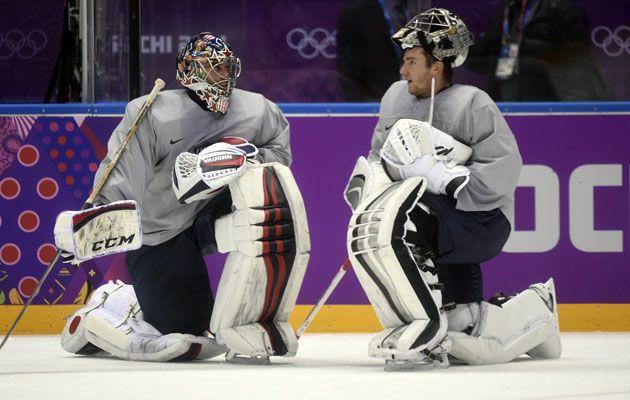 Ryan Miller & Jonathan Quick of Team USA
