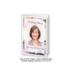 Pastel Memories Funeral Card Template  Funeral Card Templates