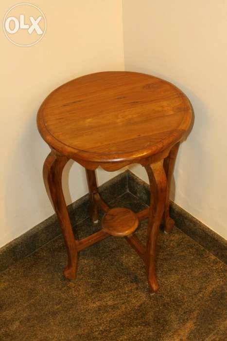 Antique teak wood stool - Kochi, Kerala | Hardwood Furniture ...