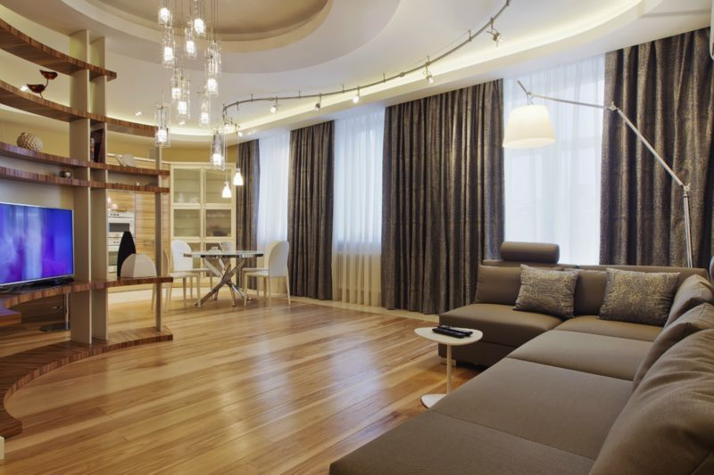 Elektrische Vorhangschienen im Wohnzimmer | Allgemein | Pinterest