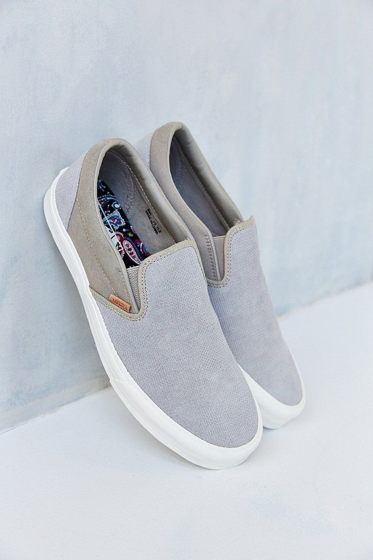 3f24870534 Vans Classic California Knit Suede Slip-On Men s Sneaker - Urban Outfitters