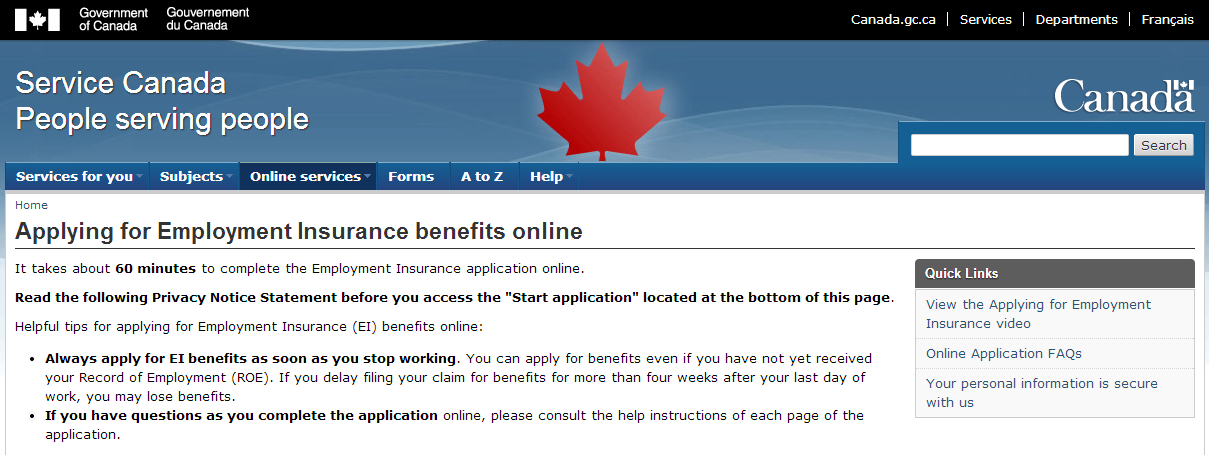 How To Apply For Ei Online Insurance Benefits How To Apply