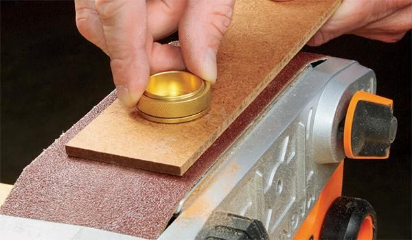 See how one woodworker shortened the bushing portion of their brass see how one woodworker shortened the bushing portion of their brass router template guide without a keyboard keysfo Image collections