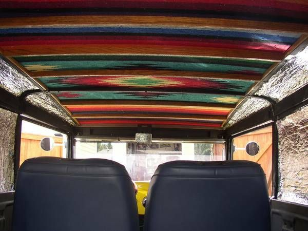 Mexican blanket headliner suburbans pinterest mexicans blanket and cars Car interior ceiling fabric repair